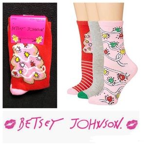 🆕 Betsey Johnson Crew Socks